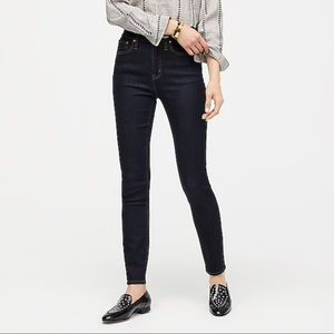 J. Crew Toothpick Skinny Ankle Jeans In Dark Ink